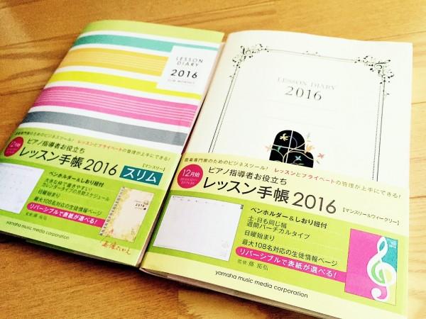 レッスン手帳(面出し2冊)